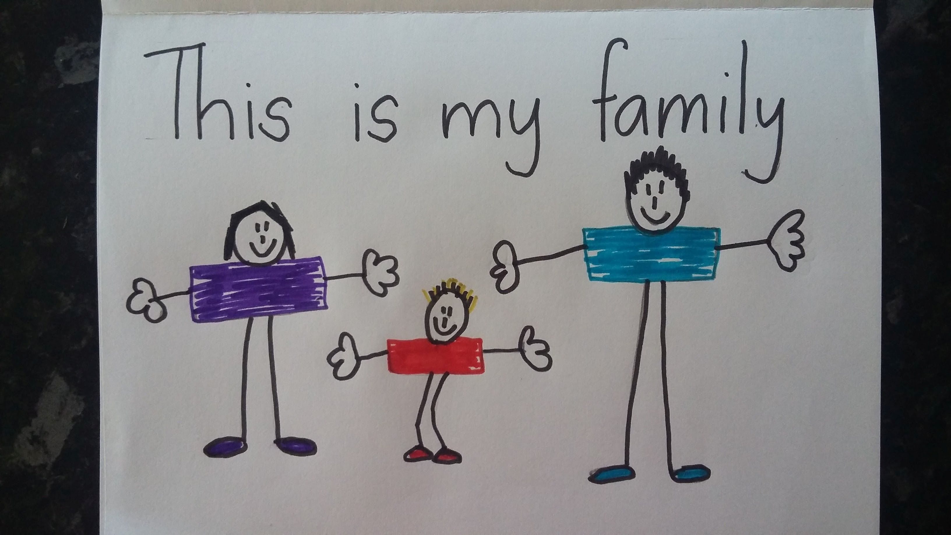 children's drawing of their family