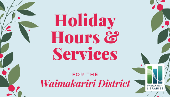 Christmas - New Year 2019: Hours & Services thumbnail image.