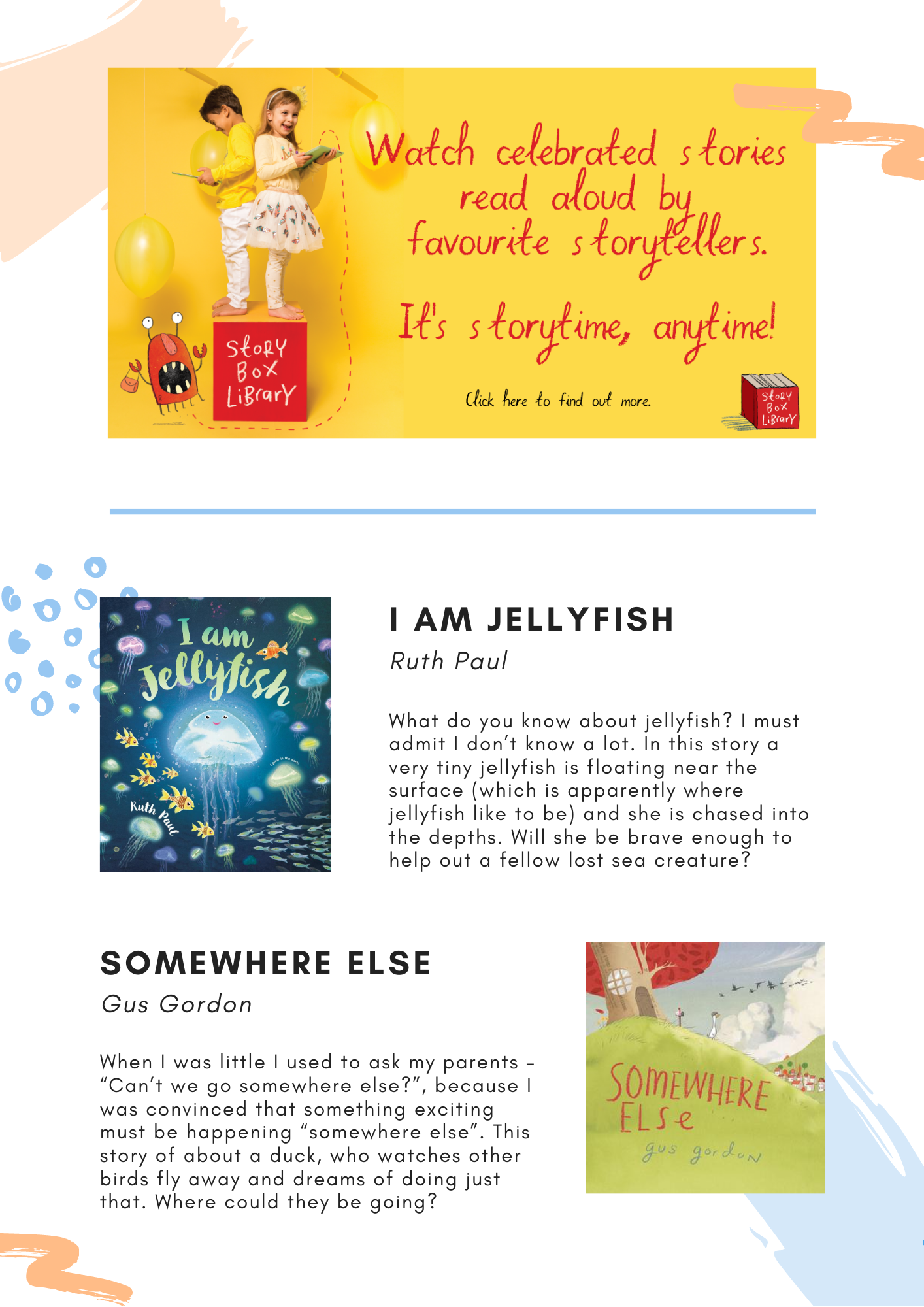 Storybox Reviews Newsletter July 2020