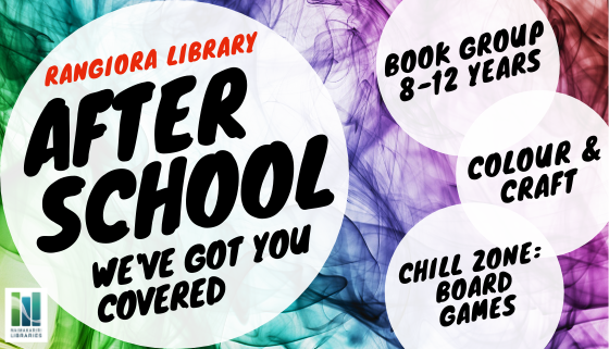 After school at Rangiora Library: We've got you covered! thumbnail image.