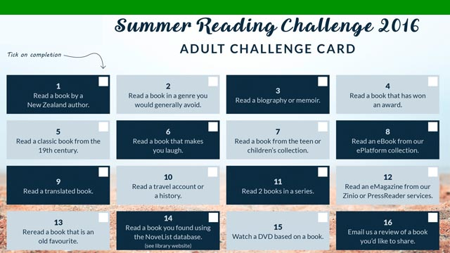 Adult Summer Reading Challenge thumbnail image.